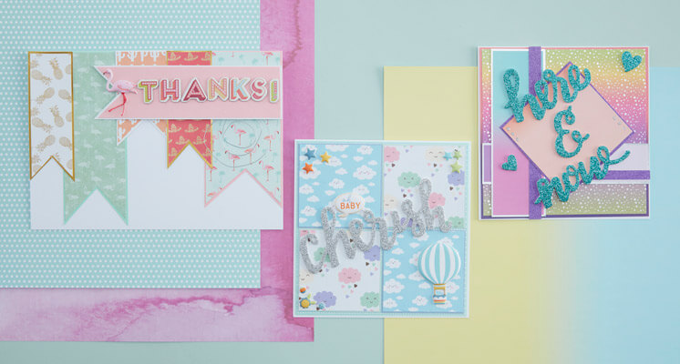 3 Simple Scrapbook Paper Cards