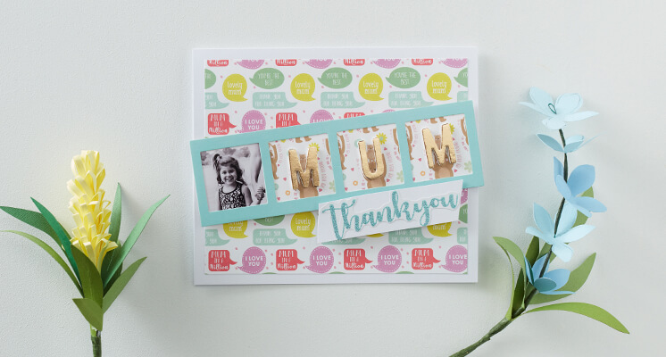 How to Make a Photobooth Frame Mother's Day Card